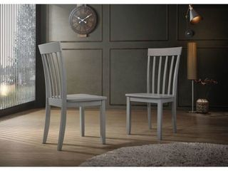 Slat back Dining Chairs  Set of 2  Retail 100 00