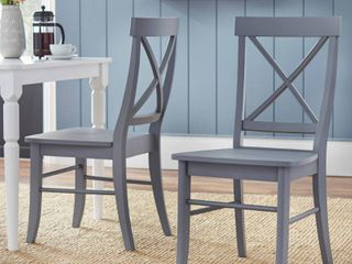 Albury X Back Chair  Set Of 2
