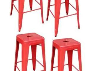Amerihome 4 Piece 30 Inch Metal Barstool