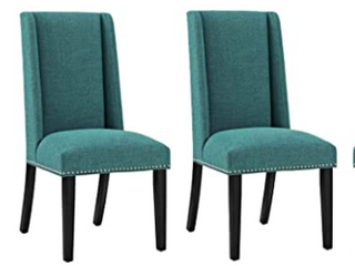 Baron Dinning Chair Fabric Set Of 4 Teal