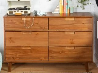 Carson Carrington Gammelstaden Mid Century Wood Dresser Walnut