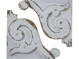 American Art Decor Distressed Corbel Wood Shelf Brackets  Set of 2