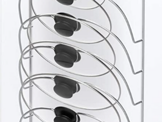 Home lavish Rack space Saving 5 Compartment Hanging Wall Mount Holder For Pot