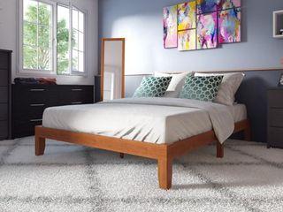 Porch   Den Neron 12 inch Solid Wood Queen size Platform Bed   Retail 179 99