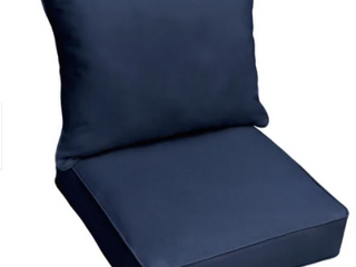 Sunbrella Indoor  Outdoor Deep Seating Cushion and Pillow Set  Retail 165 53