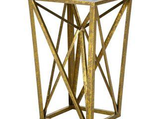 Jaye Angular Mirror Accent Table   Gold