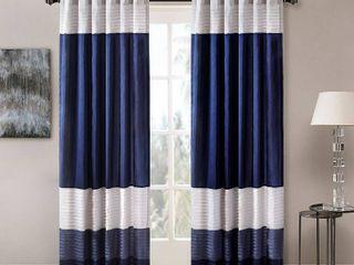 84 x50  Salem Polyoni Pintuck light Filtering Window Curtain Panel Navy