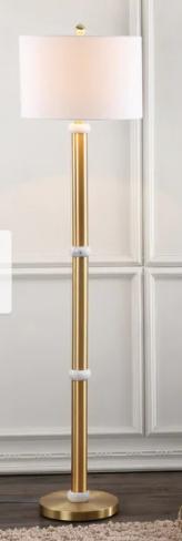 Gregory 60 5 Metal Marble lED Floor lamp