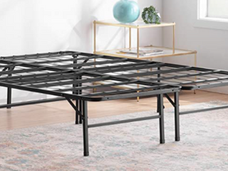 linenspa 14 Inch Folding metal platform Bed Frame