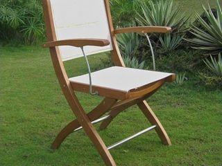 International Caravan Royal Tahiti Textilene Patio Dining Chair  Set of 2  Retail 229 99