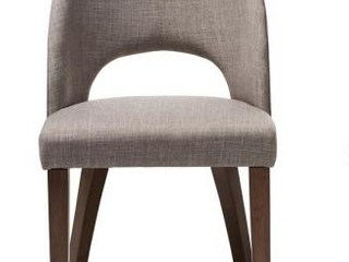 Baxton Studio Wesley Mid Century Fabric Upholstered Dinning Room Chair W17945