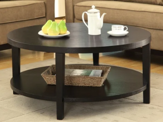Merge 36  Round Coffee Table in Black