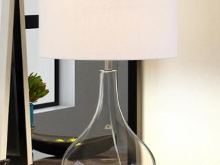 Carson Carrington Sagmyra Clear Glass Table lamp