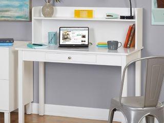 Foster Desk with Hutch  White