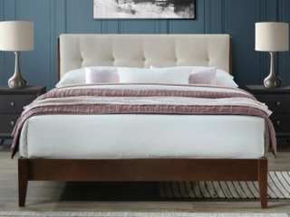 Dickens Queen Mid Century Modern Bed Spring Twin
