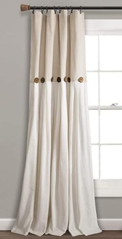 lush Decor linen Button Single Panel