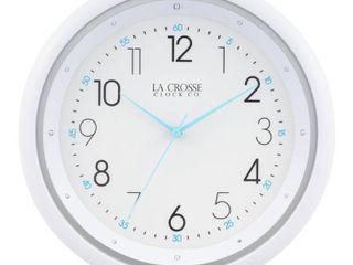 la Crosse Clock 404 4525 10  Wall Clock w  Night Vision Technology