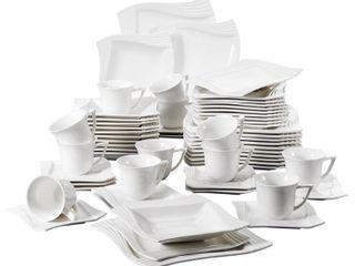 Malacasa  Series Amparo  30 Pieces Ceramic Dinnerware Set  Service for 6  Retail 107 99