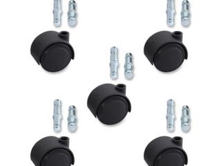 Soft Wheel Casters Set Of Five Black