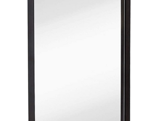 Brushed Metal Wall Mirror Glass Rounded