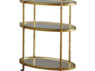 lauren Bar Cart Antique Gold