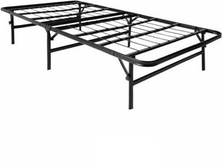 lUCID Foldable Metal Platform Twin Bed Frame and Mattress Foundation