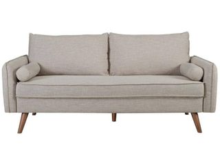 Revive Upholstered Fabric Sofa Beige   Modway