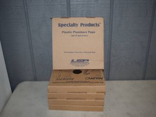 5 Rolls lSP Plastic Plumbers Tape 100 Foot