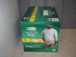 80 Count Box Men s Depends Protection Plus