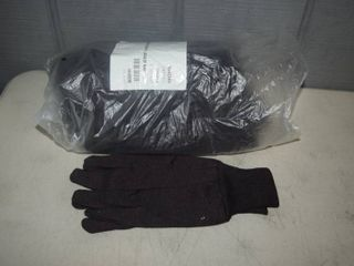 12 Pair Brown Jersey Gloves