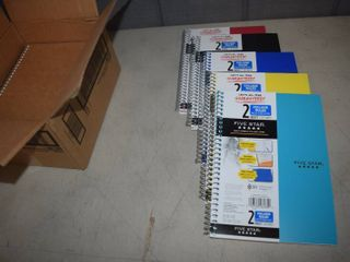 12 Five Star Spiral 2 Subject Notebooks