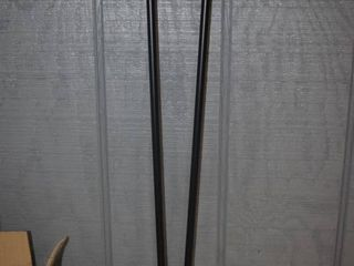 Set of 4 Black Metal Table legs 28