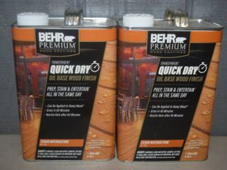 2 Gallons Behr Premium Quick Dry Wood Finish