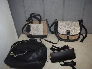 4 leather Purses