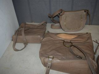 3 leather Purses
