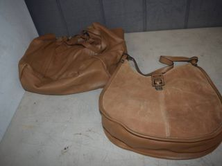 2 leather Purses