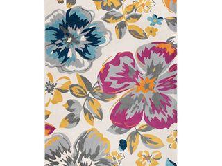 Modern Floral Design Multi 3 1 x5  Area Rug