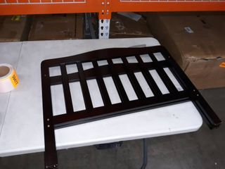 small toddler bed brown headboard and footboard