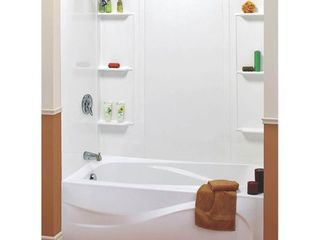 Maax 101604 000 129 5 Piece Bathtub Wall Kit  48   60 In l X 31 In W X 59 In H  Polystyrene
