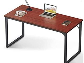 Coleshome Computer Desk 55  Modern Simple Style Desk for Home Office  Sturdy Writing Desk Teak Retail   119 99