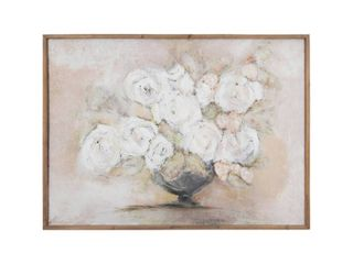 3R Studios White Flowers in Vase Framed Wall Art