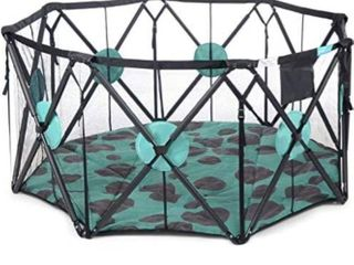 Milliard X large 8 Panel Playpen Portable Playard with Cushioning for Safety  for Travel  Indoor and Outdoor Play Yard Pen Retail 91