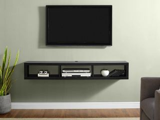 Martin Furniture Shallow Floating TV Console  60  Black