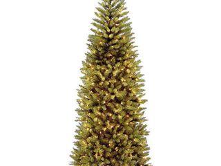 7 5ft National Christmas Tree Company Kingswood Fir Artificial Slim Christmas Tree Dual Color lED
