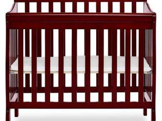 Dream On Me Aden 4 in 1 Convertible Mini Crib Cherry