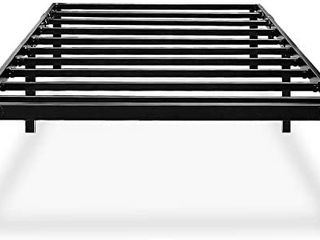 HAAGEEP Black Twin Metal Bed Frame No Boxspring Needed 14 Inch Beds Frames with Storage for Kids Girls Boys