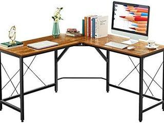 Mr IRONSTONE l Shaped Desk 59  Computer Corner Desk  Home Gaming Desk  Office Writing Workstation  Space Saving  Easy to Assemble  Vintage