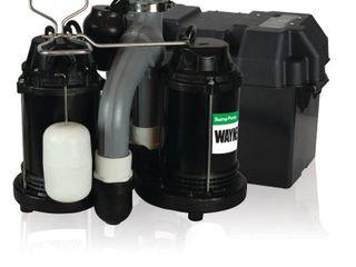 WAYNE WSS30V Combination 1 2 HP and 12 Volt Combination Sump System