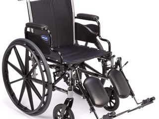 Invacare Tracer SX5 Wheelchair  With Desk length Arms and T94HAP Elevating legrests With Padded Calf Pads  20  Seat Width  1193443