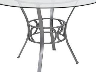 Flash Furniture Carlisle 48  Round Dining Table Silver Metal Frame